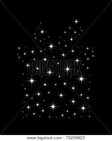 Christmas Gift box bright star