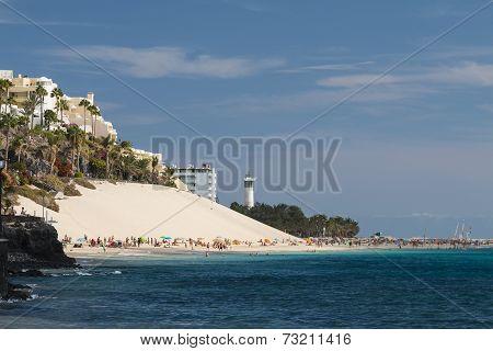 Jandia Beach In Fuerteventura, Spain