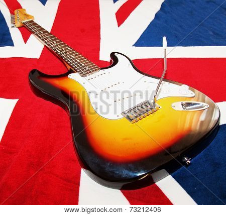 Guitar Over Union Jack
