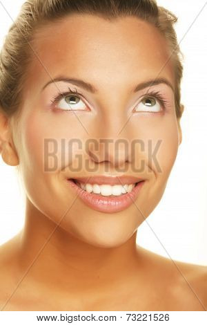 Young woman, big smile