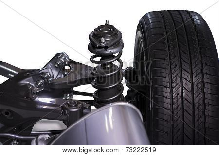 Wheel And Shock Absorber