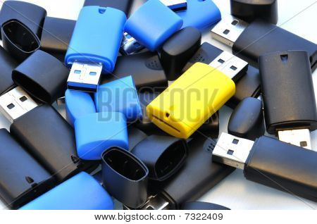 Isolated usb memory sticks