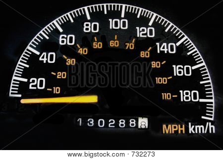 speedometer with mileage