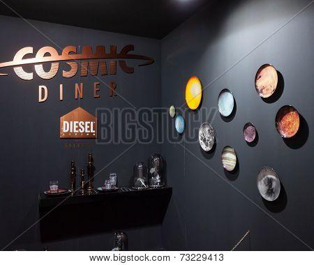 Diesel Flatware On Display At Homi, Home International Show In Milan, Italy