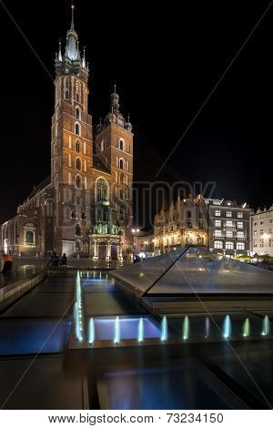 Church Of Our Lady Assumed Into Heaven In Krakow, Poland