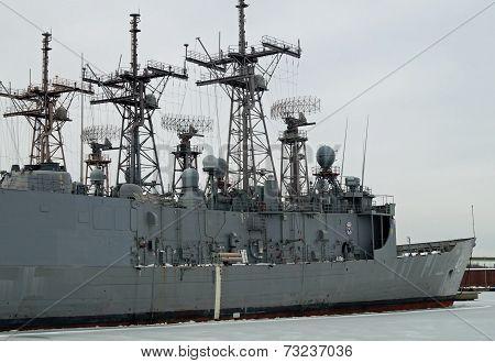 U.S. Navy Frigate USS Klakring