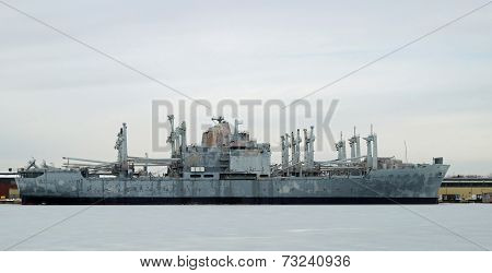 U.S. Navy Attack Cargo Ship USS Mobile