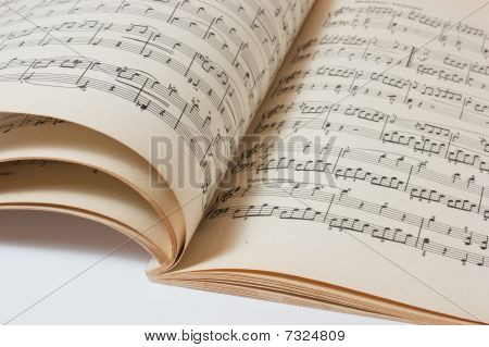 Old Open  Music Book