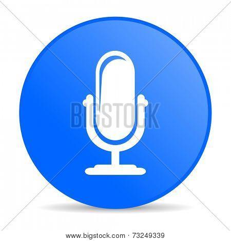 microphone internet blue icon
