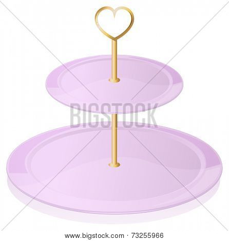 Illustration of an empty cupcake tray on a white background