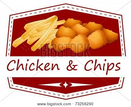 Illustration of chicken and chips