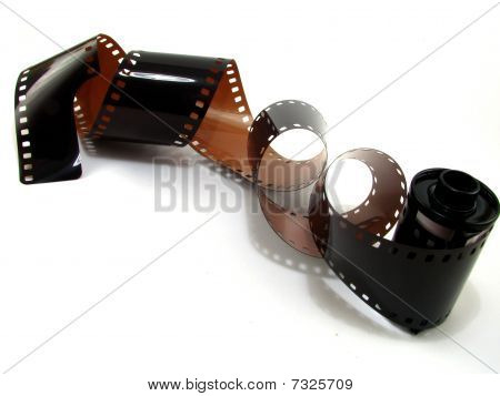 Unraveled 35mm film