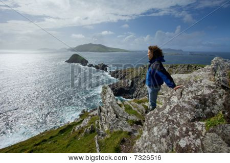 man on cliffs