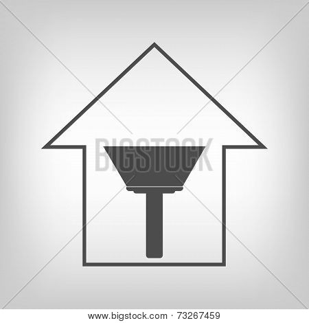 House with paint scraper