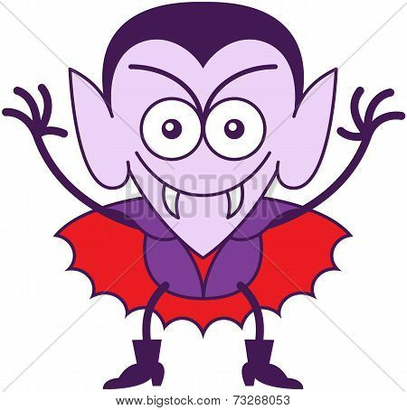 Halloween Dracula being mischievous