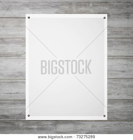 Poster With A Grey Gradient On The Wall