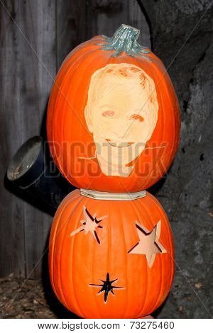 LOS ANGELES - OCT 4:  Ellen DeGeneres Carved Pumpkin at the RISE of the Jack O'Lanterns at Descanso Gardens on October 4, 2014 in La Canada Flintridge, CA