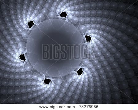 Abstract Sphere Array Background