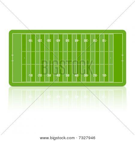 Football field. Vector.