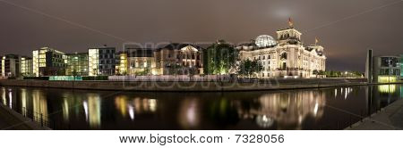 River Spree Near Reichstag. Panorama.
