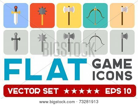 Vector flat game icons