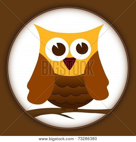 illustration of the wise old owl vector poster