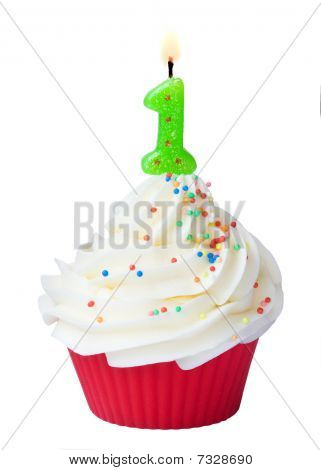 First Birthday Cupcake