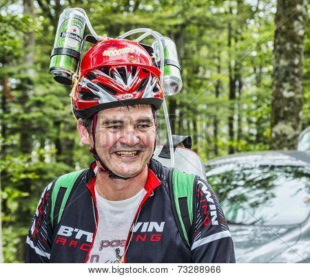 Funny Disguised Fan Of Le Tour De France