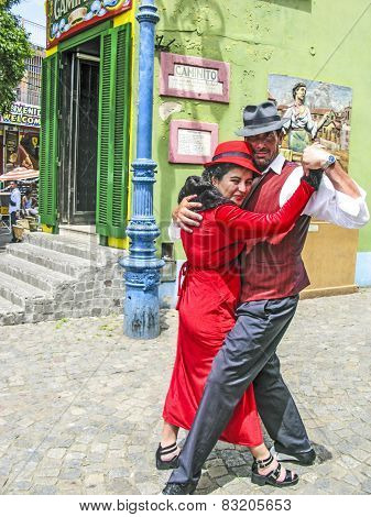 People Visit Caminito Street In La Boca