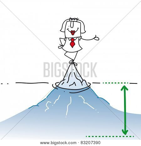 karen and the hidden aspect of the problem. Karen is on the top of the iceberg. It is a concept of her many problems which are hidden.