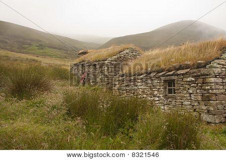 Hütte auf einer Insel, orkney