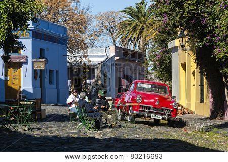 Vintage Cars In Colonia Del Sacramento, Uruguay