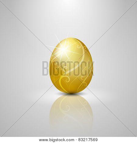 Easter Golden Egg.vector Illustration Background