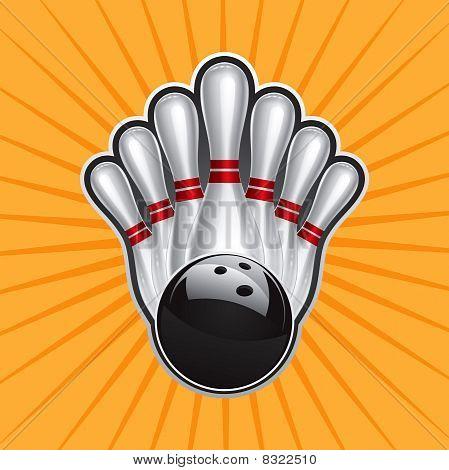 Bowling Ball Design Element Set 2.eps