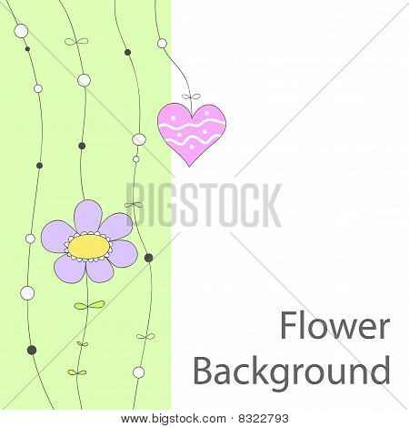 Cute floral  background or greeting card