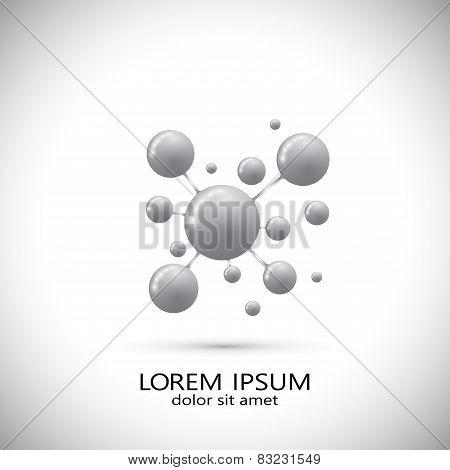 Molecule logo . Modern design template