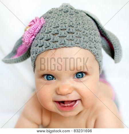 Happy Baby Like A Bunny Or Lamb