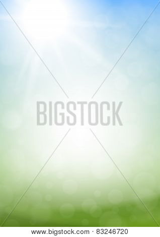 Vector Vertical Abstract Spring Background