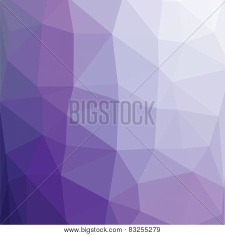 Geometric abstract lilac light turquise low-poly paper background.