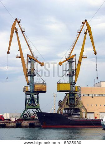 Cranes In The Sochi Sea Port