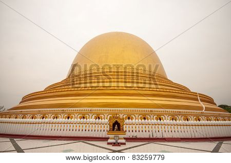 Kaunghmudaw Pagoda in Sagaing Mandalay of Myanmar.The pagoda is 46 m highbuilt by King Thalun and his son in A.D 1636. poster