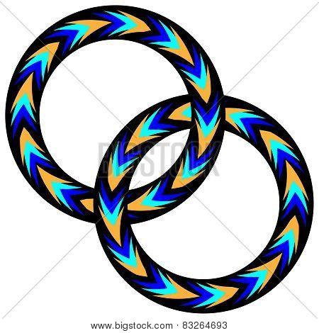 Linked Chevron Rings
