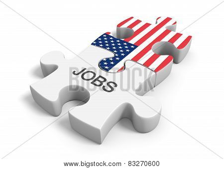 United States jobs market and employment opportunities concept