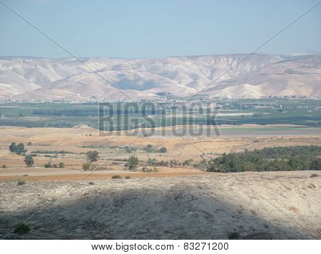 The Valley of Biblical Jordan River