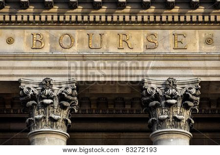 The Bourse, Paris stock exchange in France
