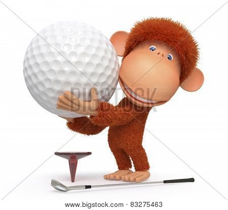 The Monkey Plays Golf