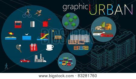 Urban graphic set