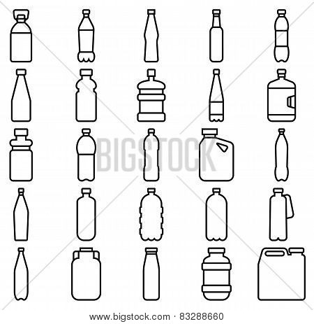 Set Of Plastic Bottles And Other Containers