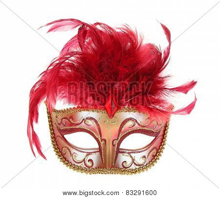 Mask In Red And Gold