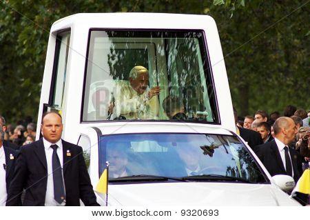 A viagem de papas Hyde Park em Londres em 18 de setembro de 2010